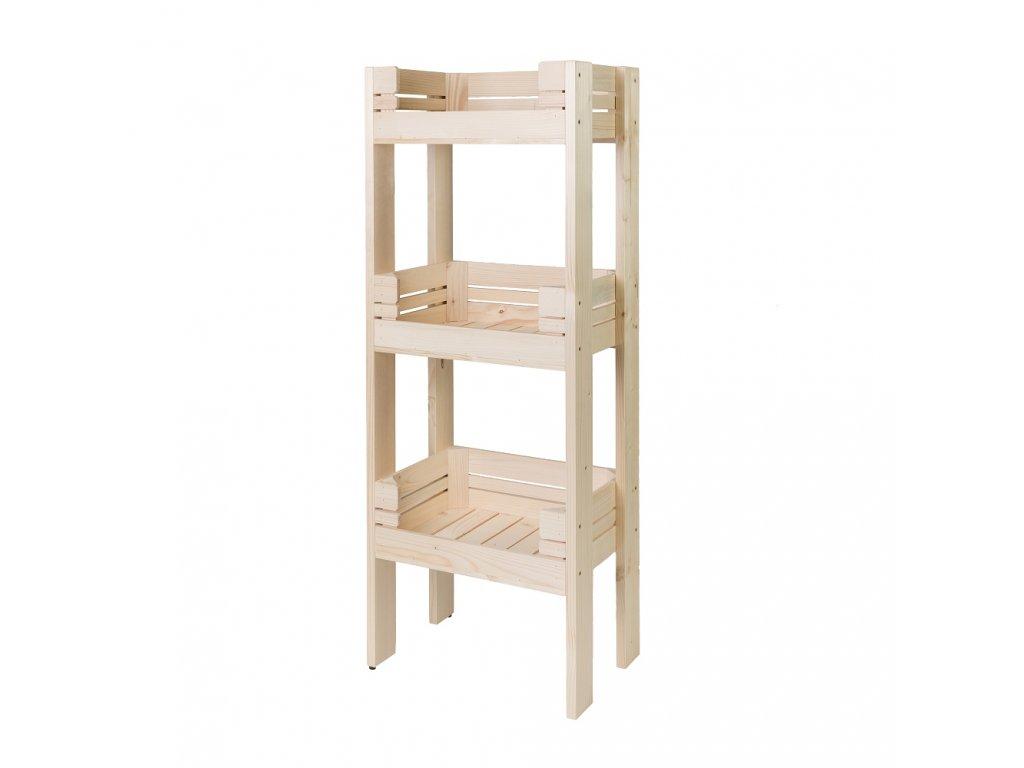 Regál drevený r3o2 120 x 46 x 30 cm
