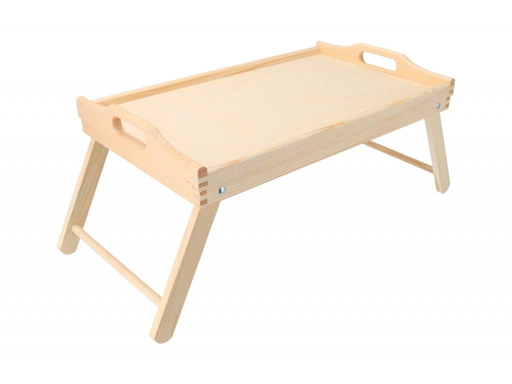 Drevený servírovací stolík do postele 50x30 cm - nelakovaný