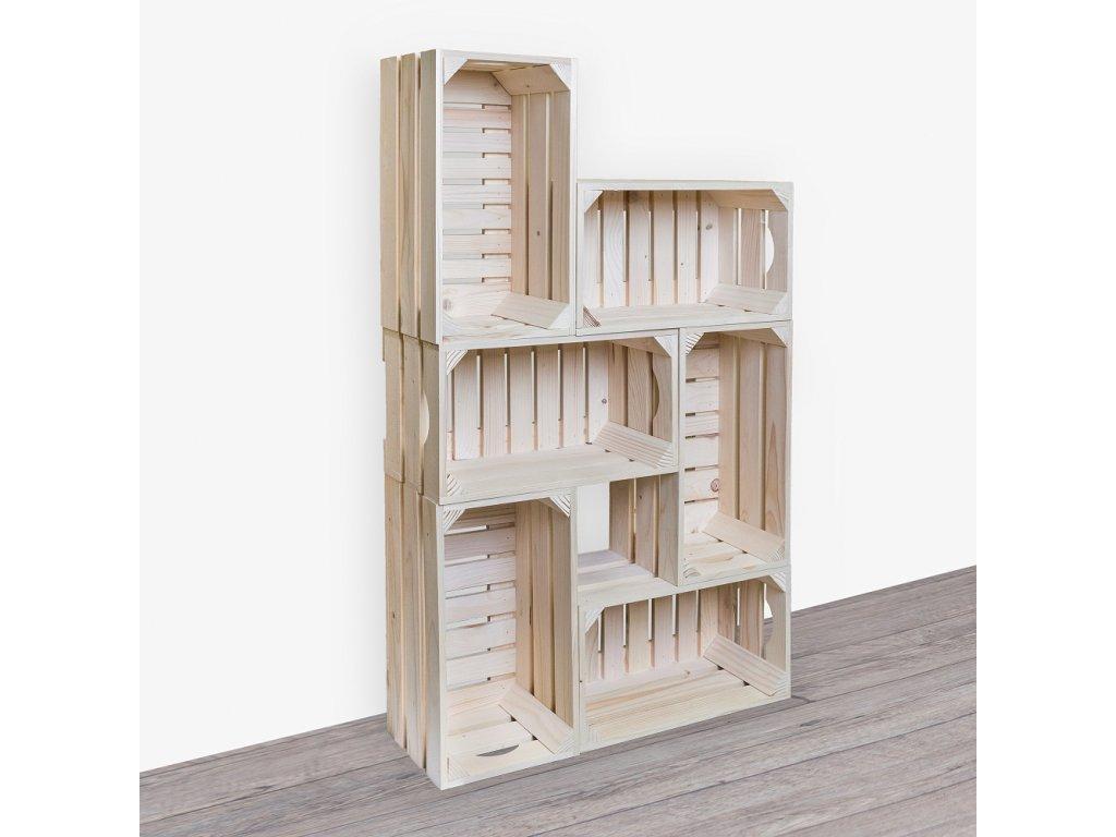 Drevené debničky - knižnica 62x102x20 cm