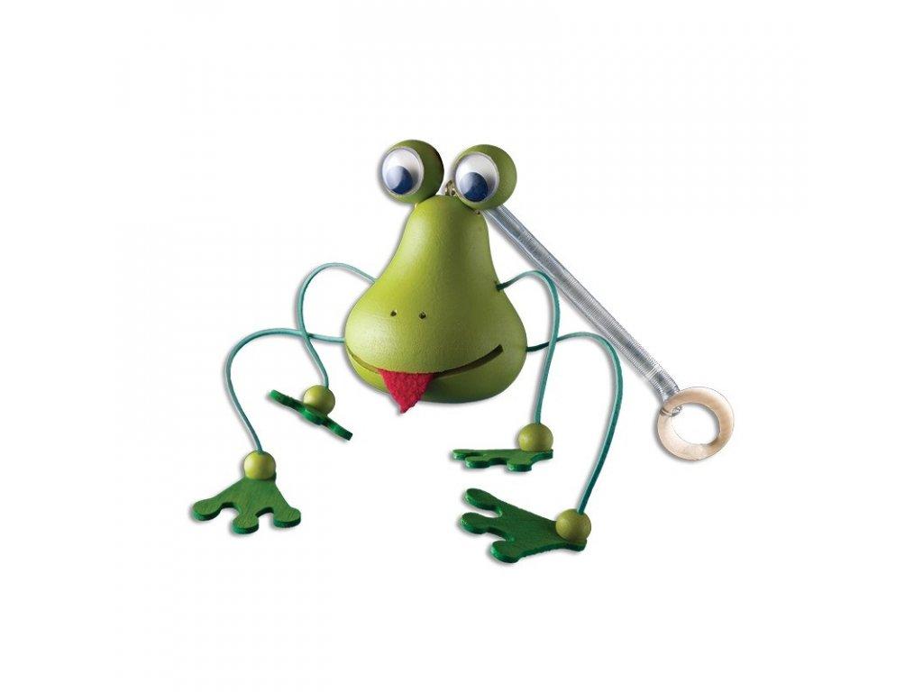 Drevená hojdacia hračka - žabka