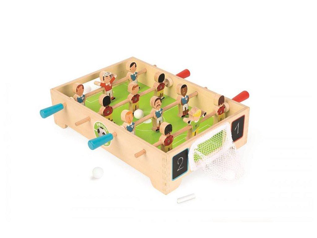 Drevený futbalový stôl so sieťkovou bránkou