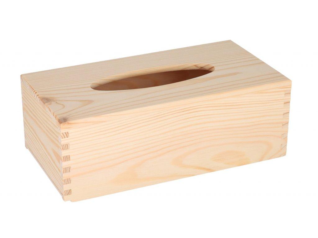 Drevená krabička na vreckovky s výsuvným dnom II