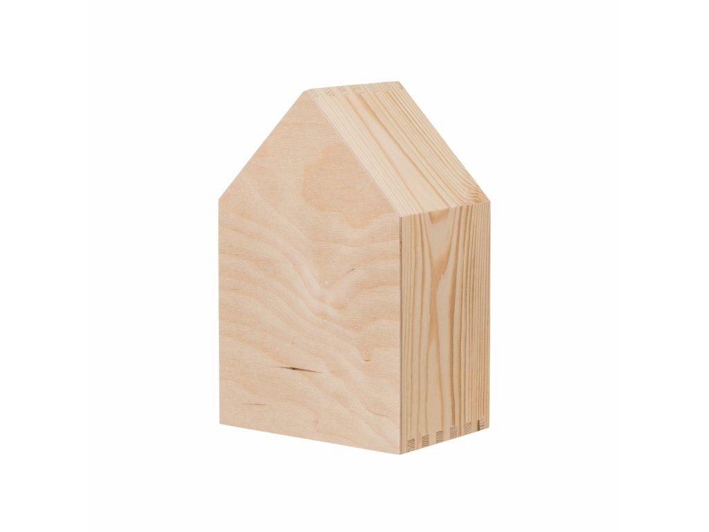 Drevená polička domček - súprava 3 ks