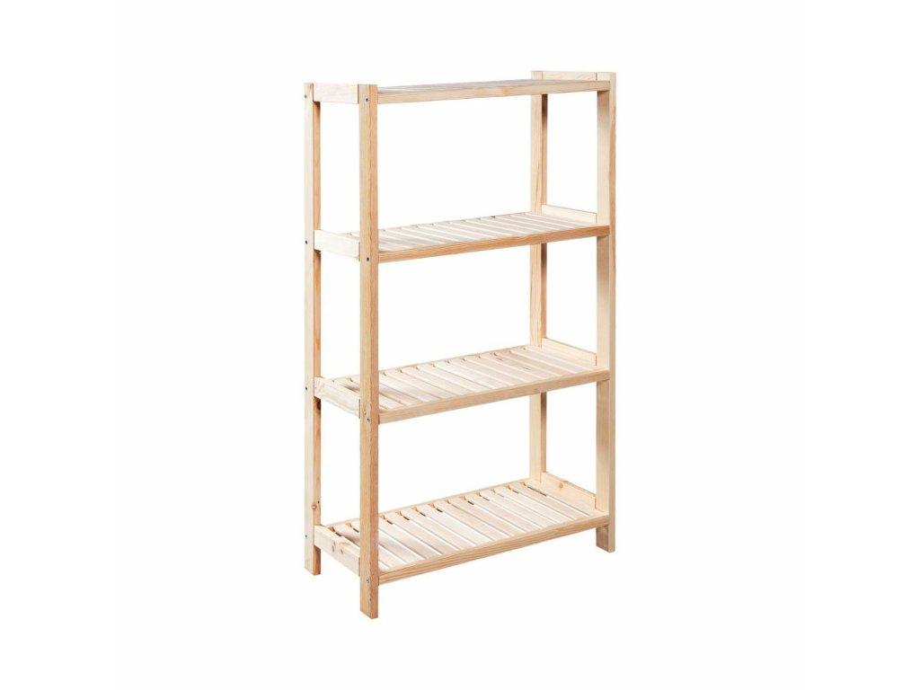 Regál drevený lm4 133 x 70 x 33 cm