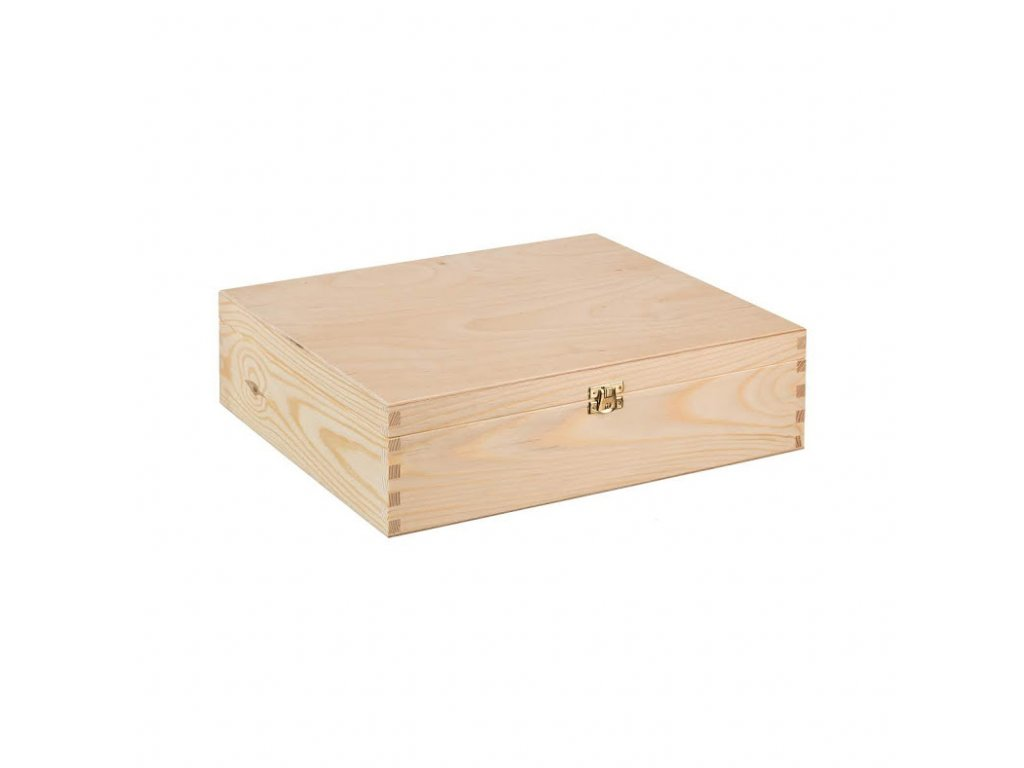 Drevená krabička na 3 vína XII