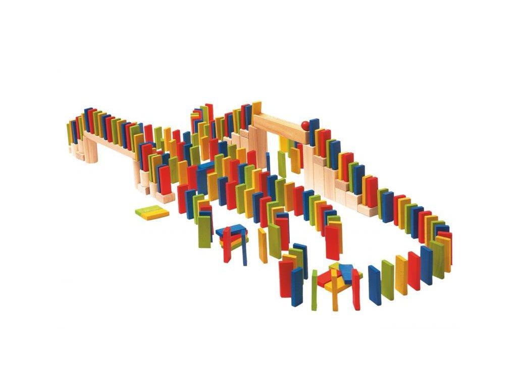 Drevené farebné domino 200 ks