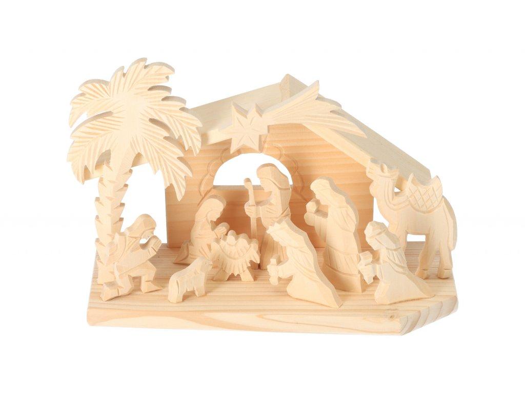 Drevený betlehém VI