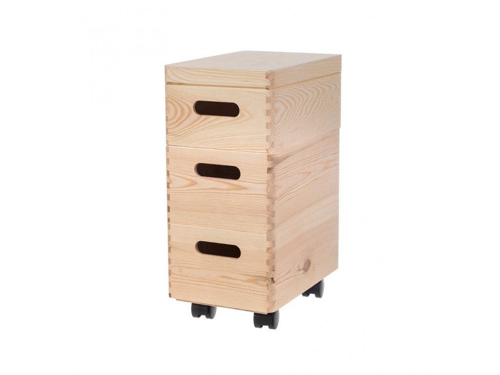 Zostava drevených boxov 30X20X14 CM
