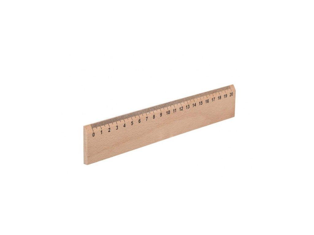Drevené pravítko 20 cm