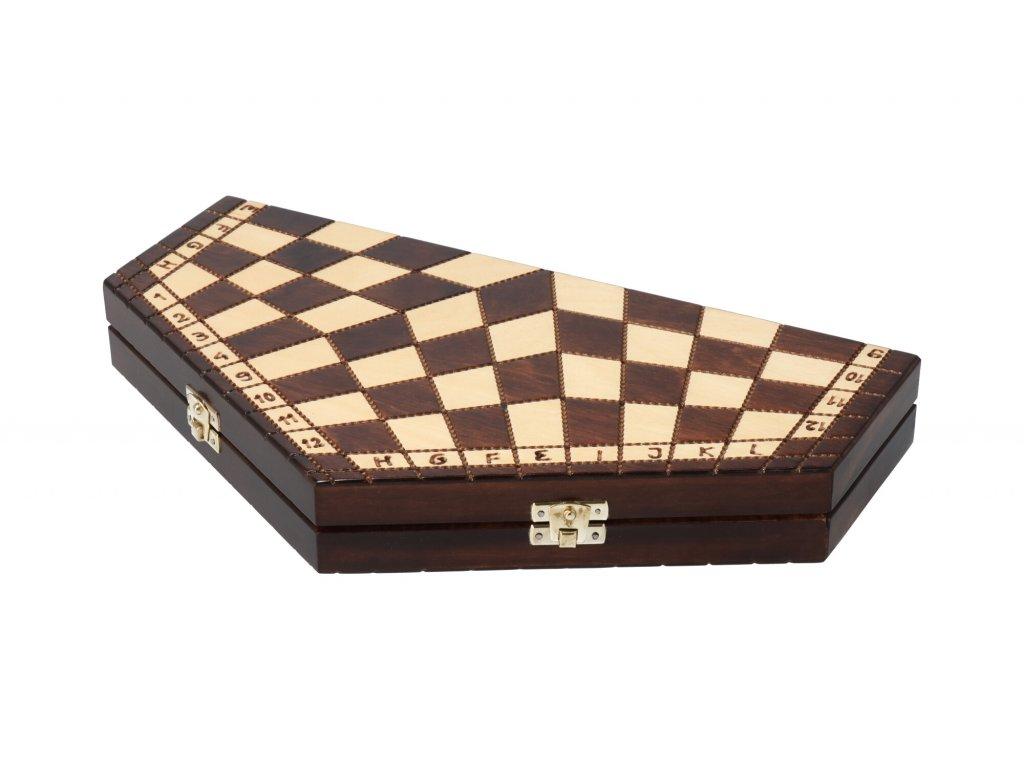 Drevené šachy - šesťuholník pre 3 hráčov