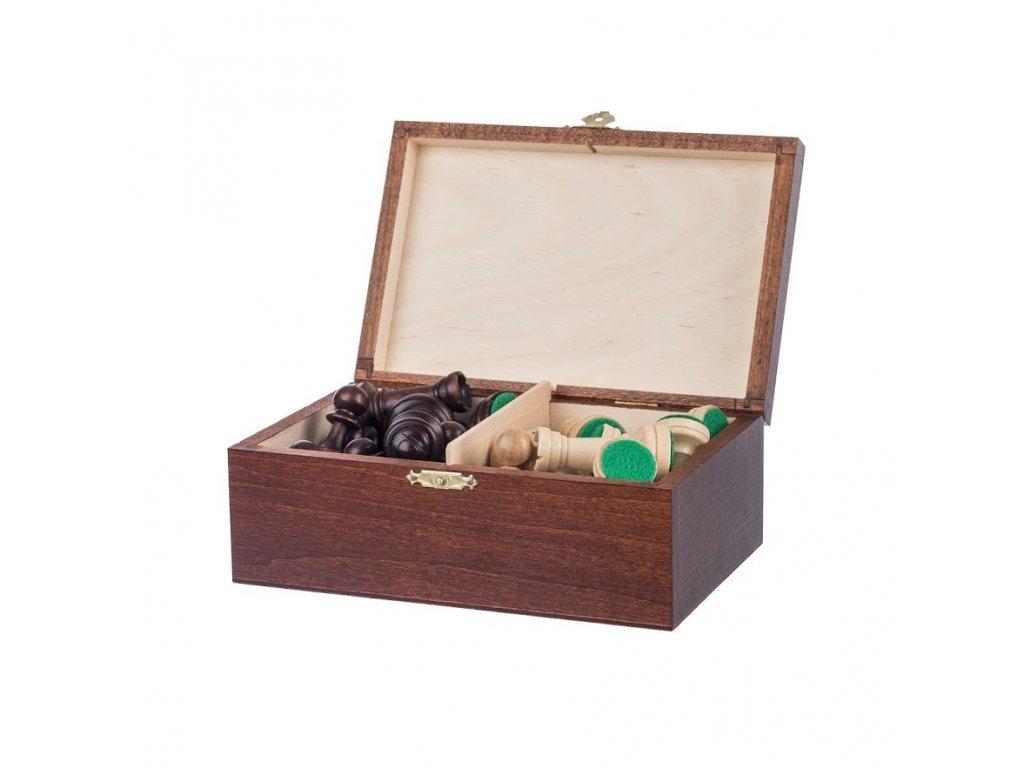 Drevené figúrky v krabičke - šachové