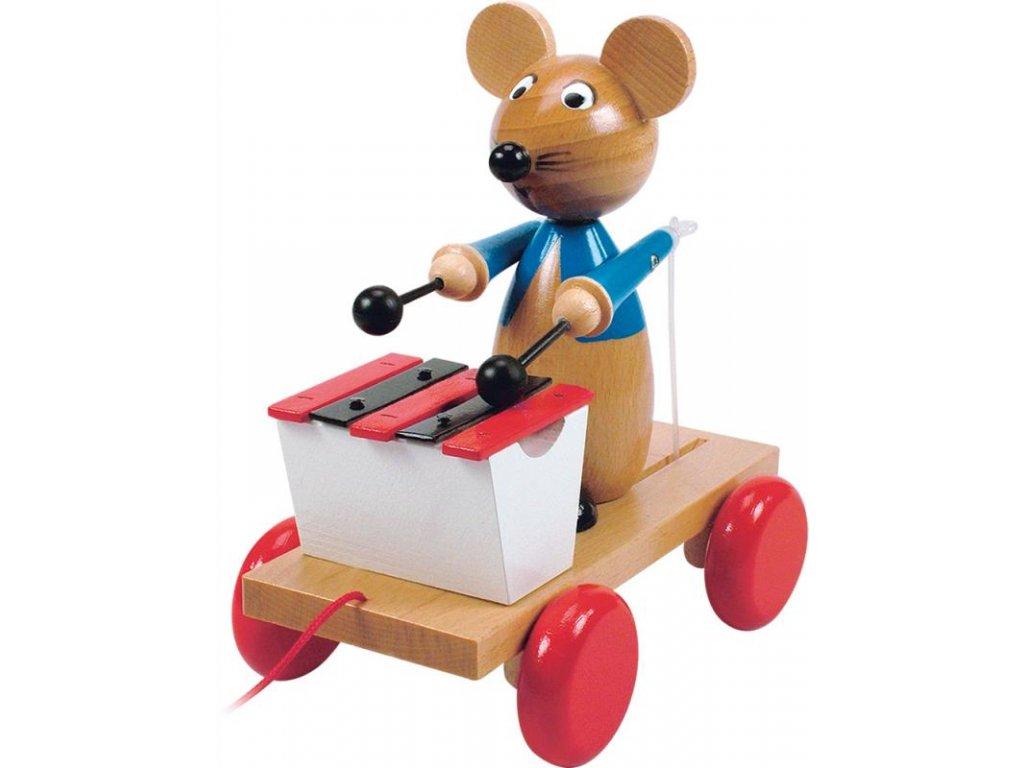 Drevená myš s xylofónom