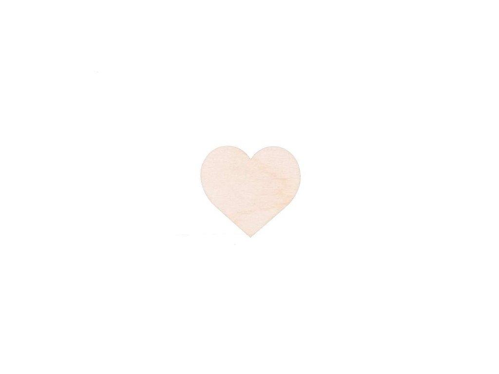 Drevené srdiečko 5 x 4,5 cm