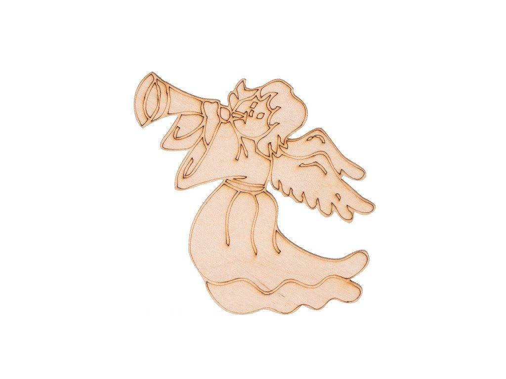 Drevený vianočný anjel I 7,5 x 10 cm