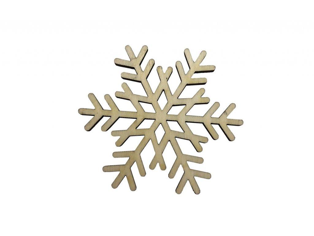 Drevená vianočná vločka I 6 x 5,5 cm