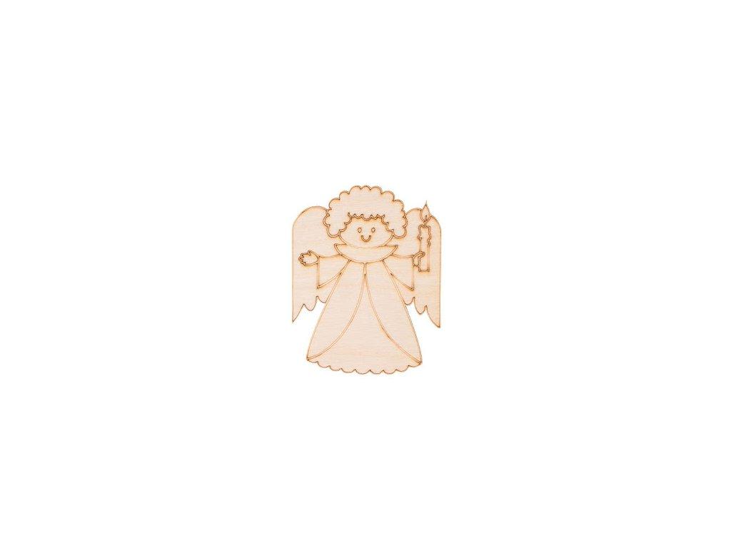 Drevený vianočný anjel IV 9 x 7 cm