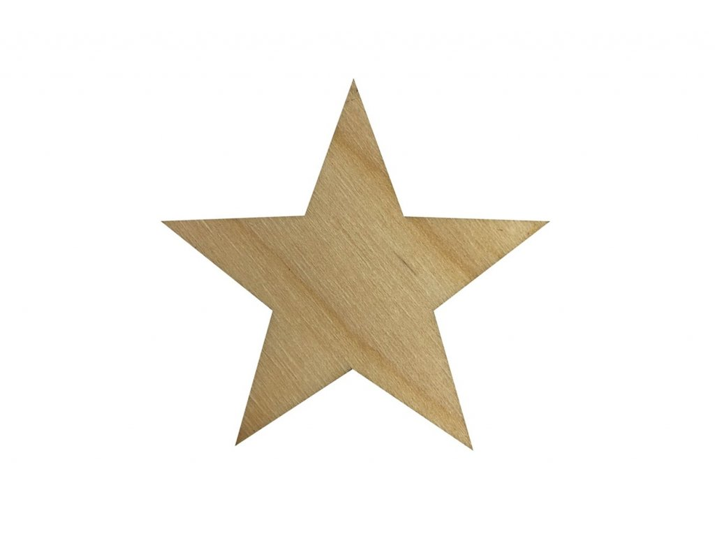 Drevená hviezda 5 x 5 cm