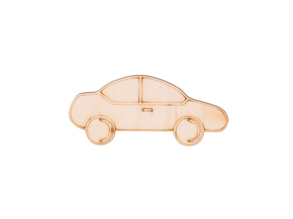 Drevené auto 3,5 x 8 cm