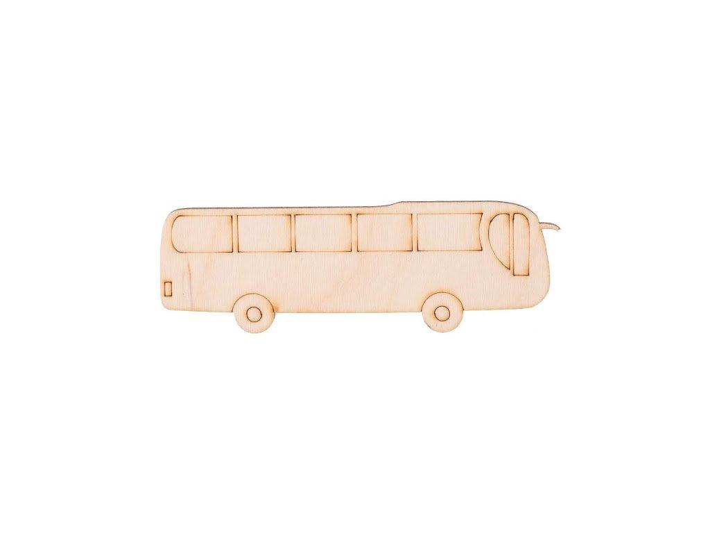 Drevený autobus 3,5 x 11 cm