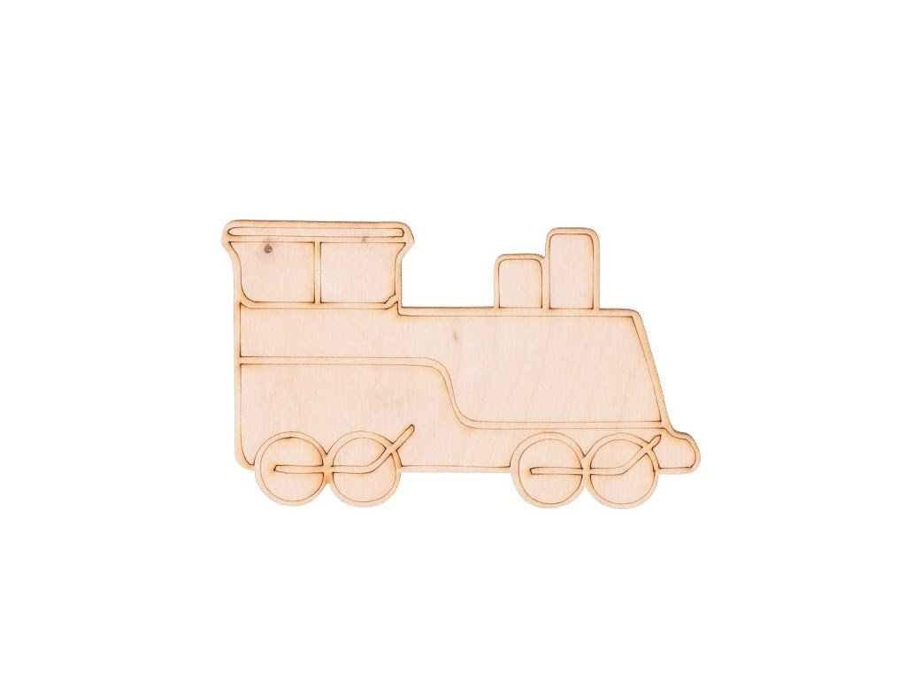 Drevený vlak 6 x 10 cm