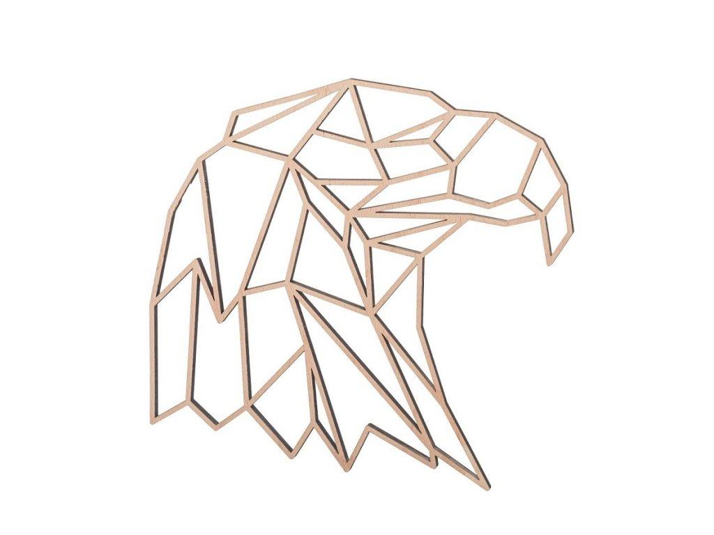 Drevený geometrický obraz - orol