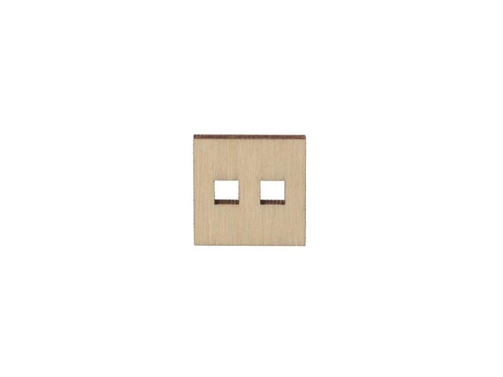 Drevený hranatý gombík 2 cm