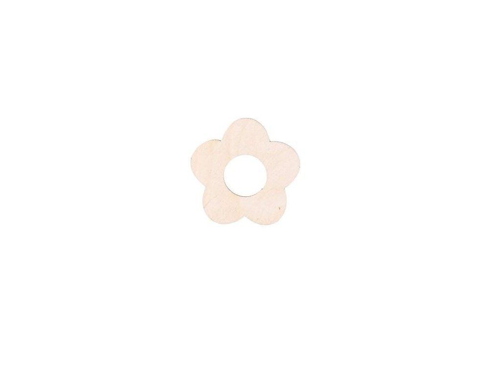 Drevený kvet I 5cm