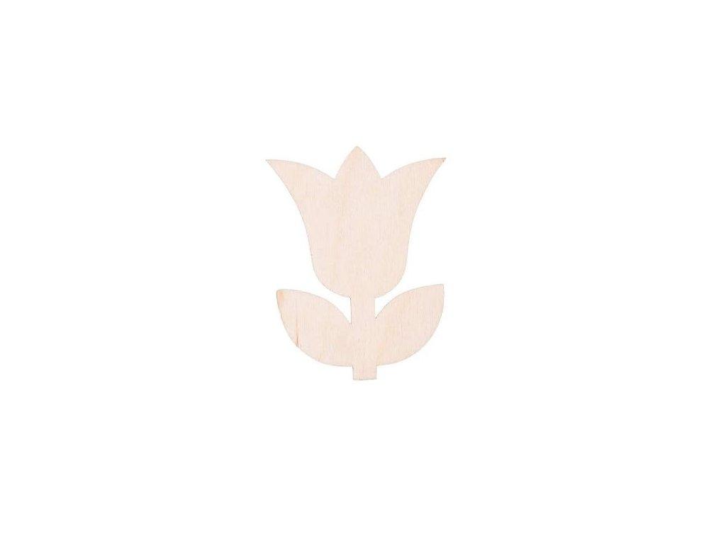 Drevený kvet III 8 x 6 cm