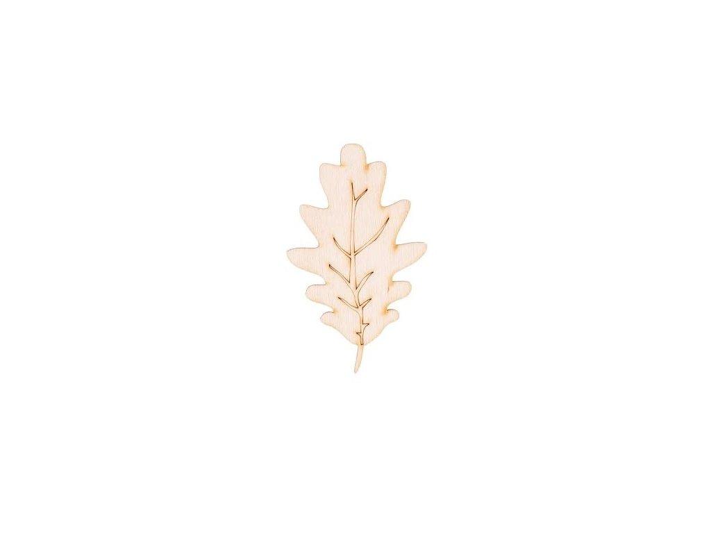 Drevený list I 8 x 6 cm