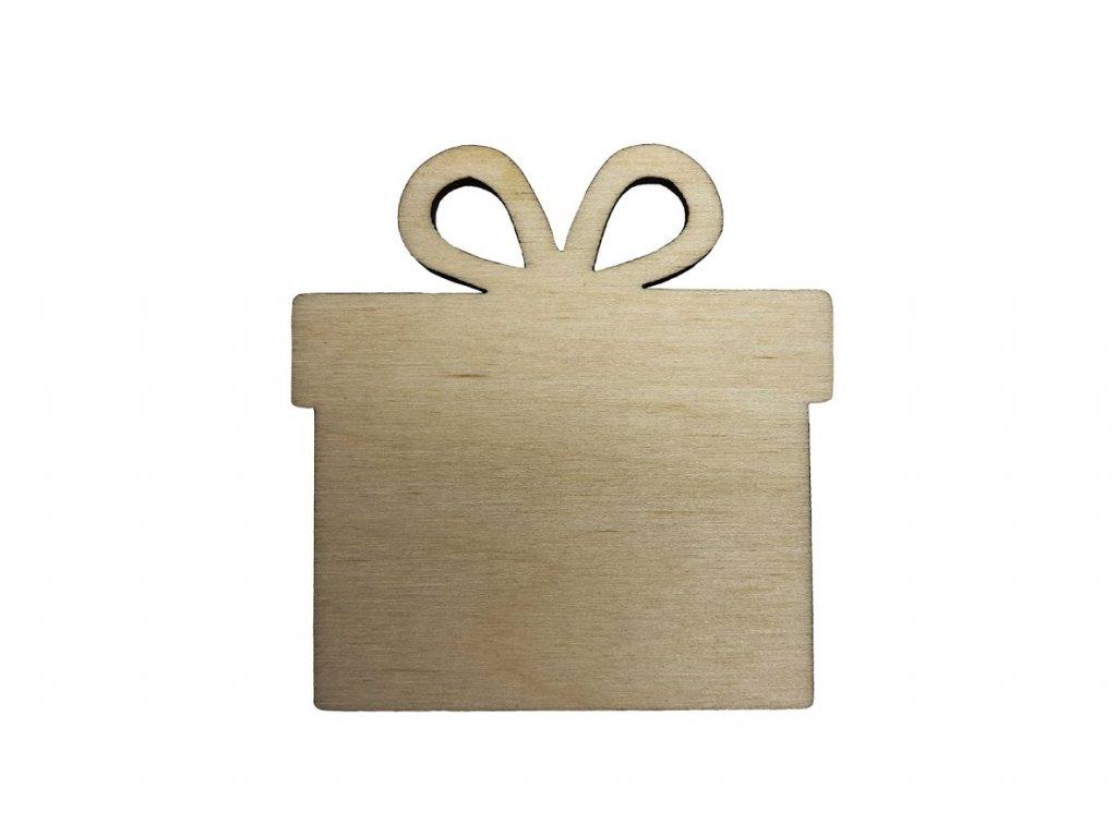 Drevený darček 6 x 5.5 cm