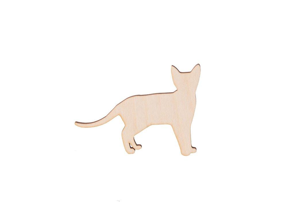 Drevená mačka 8 x 6 cm