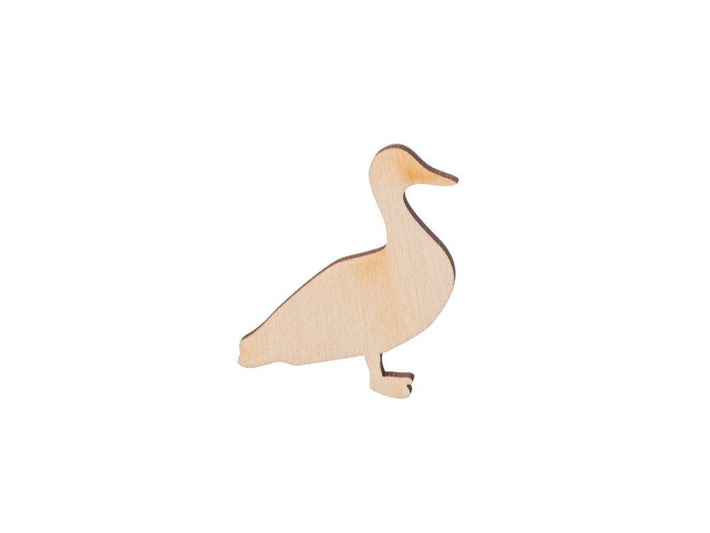Drevená kačica 5 x 5 cm