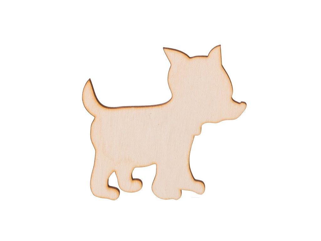 Drevený psík 9 x 8 cm