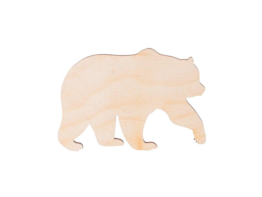 Drevený medveď 11 x 7 cm