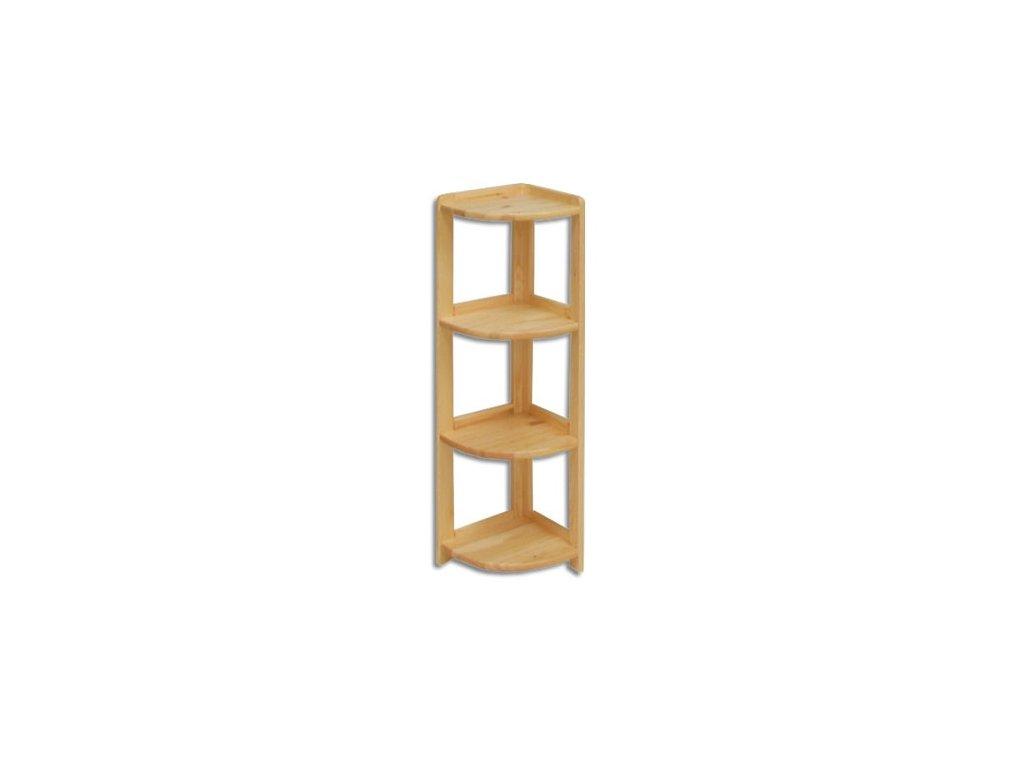 Regál drevený rohový r4r 106 x 30 x 30 cm