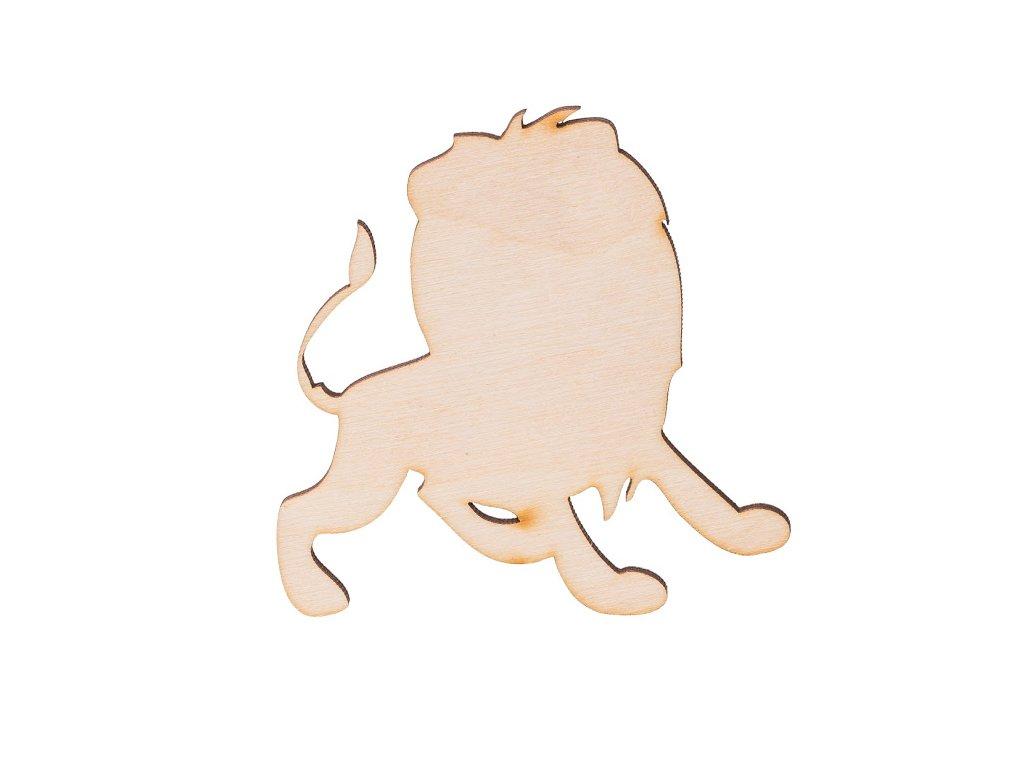 Drevený lev 9 x 9 cm