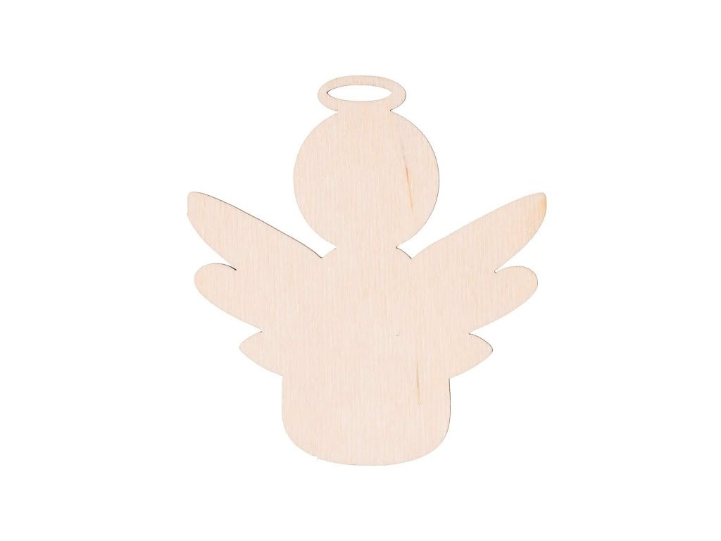 Drevený anjel VII 10 x 9 cm