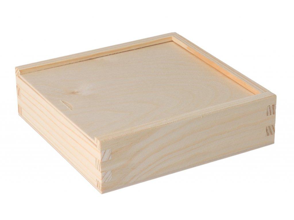 Drevená krabička na fotografie vo formáte 13x18 cm