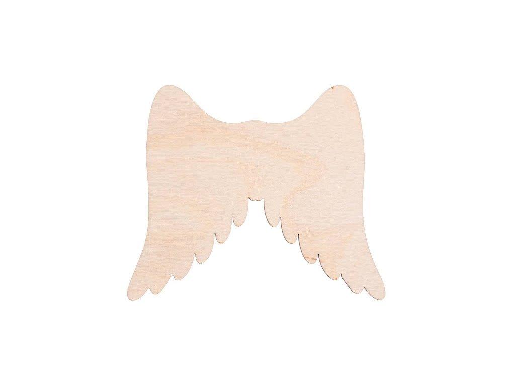 Drevené anjelské krídla I 11x 9 cm