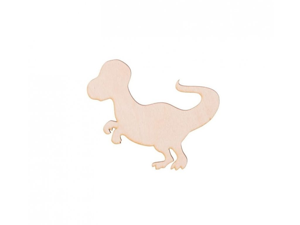 Drevený dinosaurus VI 10 x 9 cm