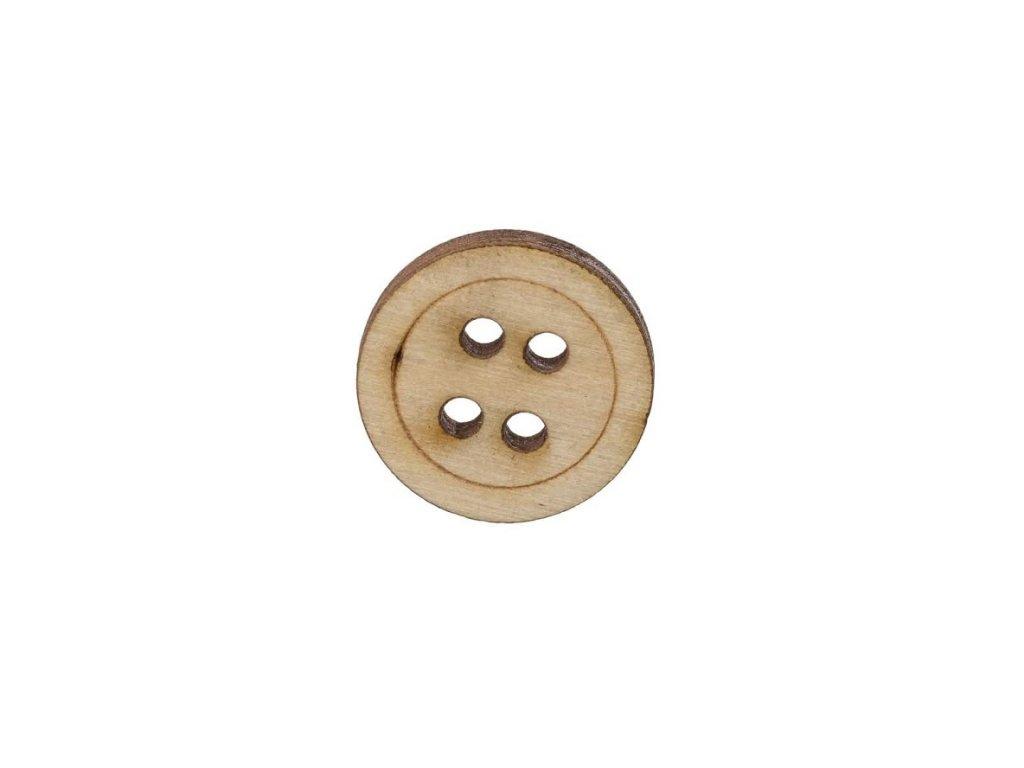 Dřevěný knoflík se čtyrmi dírkami II
