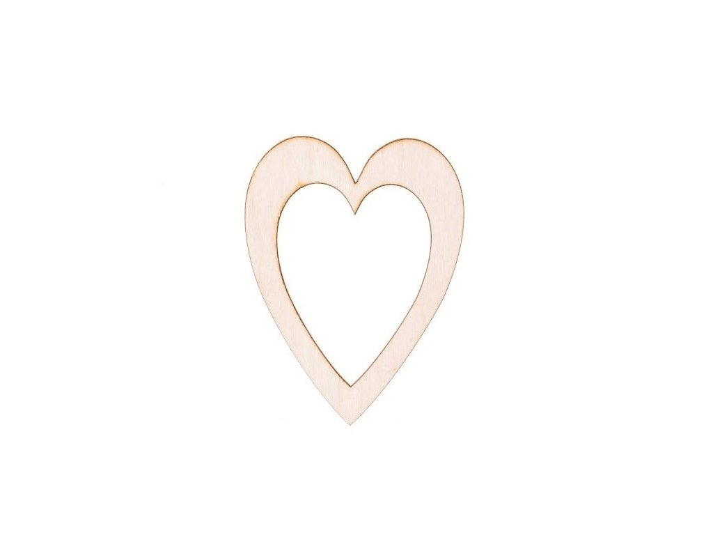 Drevené srdce v srdci II 10 x 7,5 cm