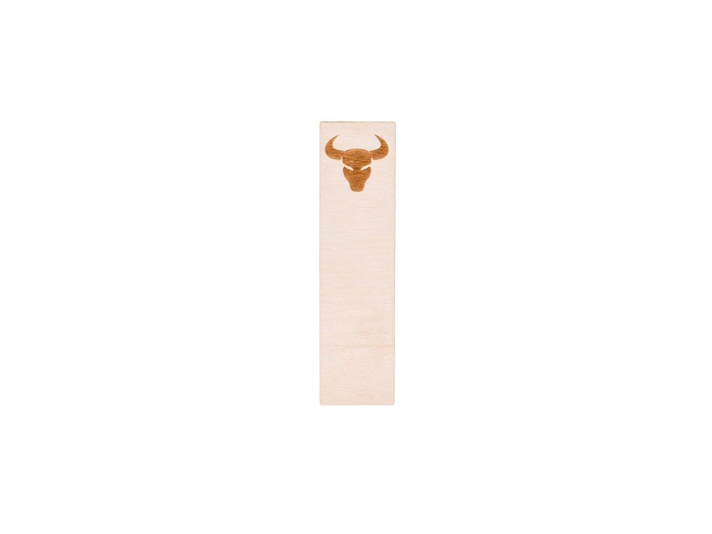 Drevená záložka do knihy - znamenie Býk