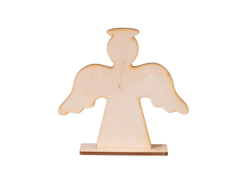 Drevený anjel na stojane II