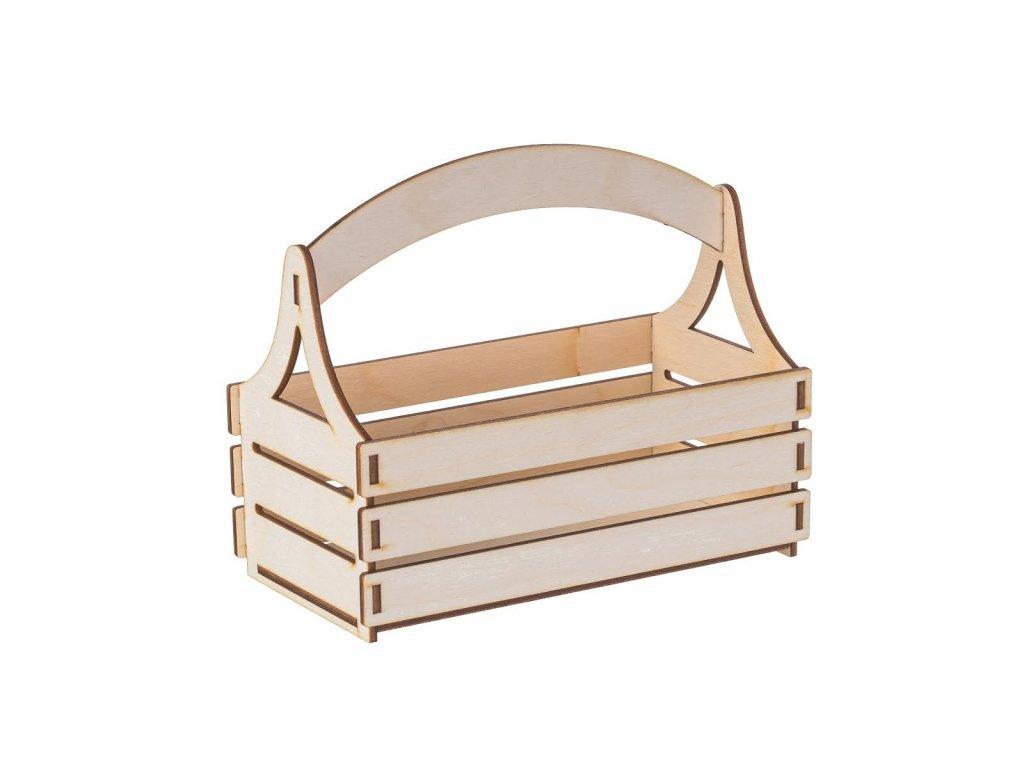 Drevený košík z preglejky