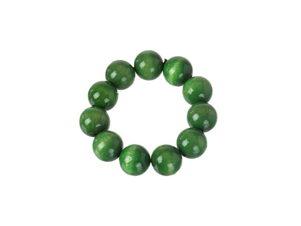 Drevený náramok - zelený