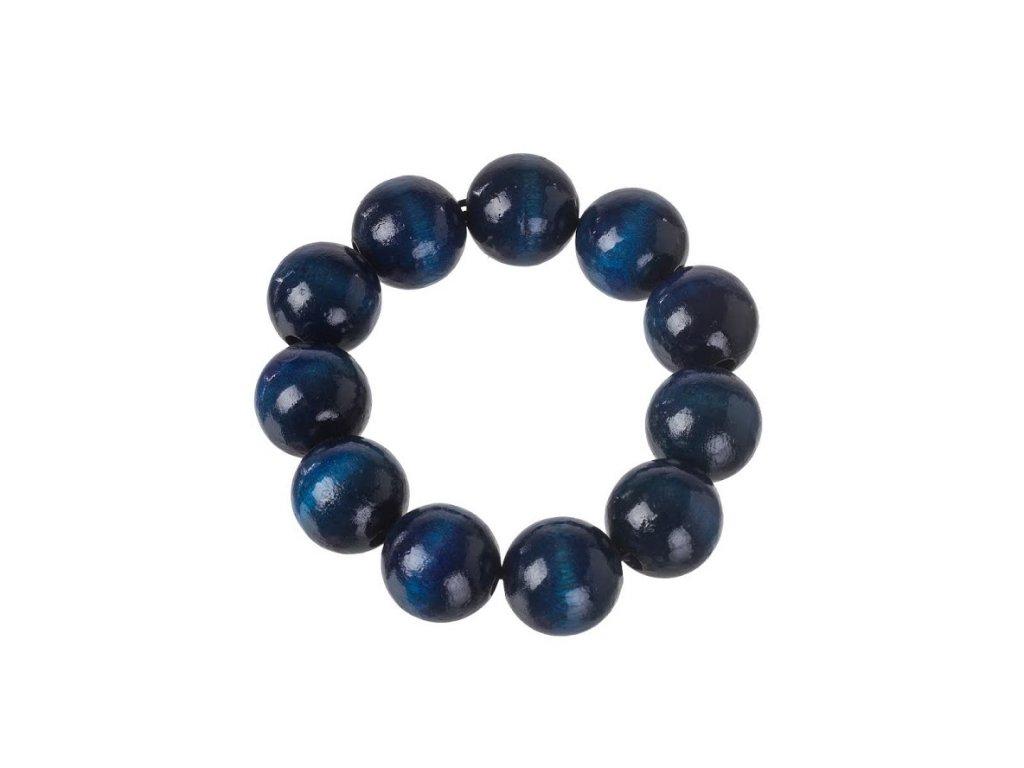 Drevený náramok - modrý