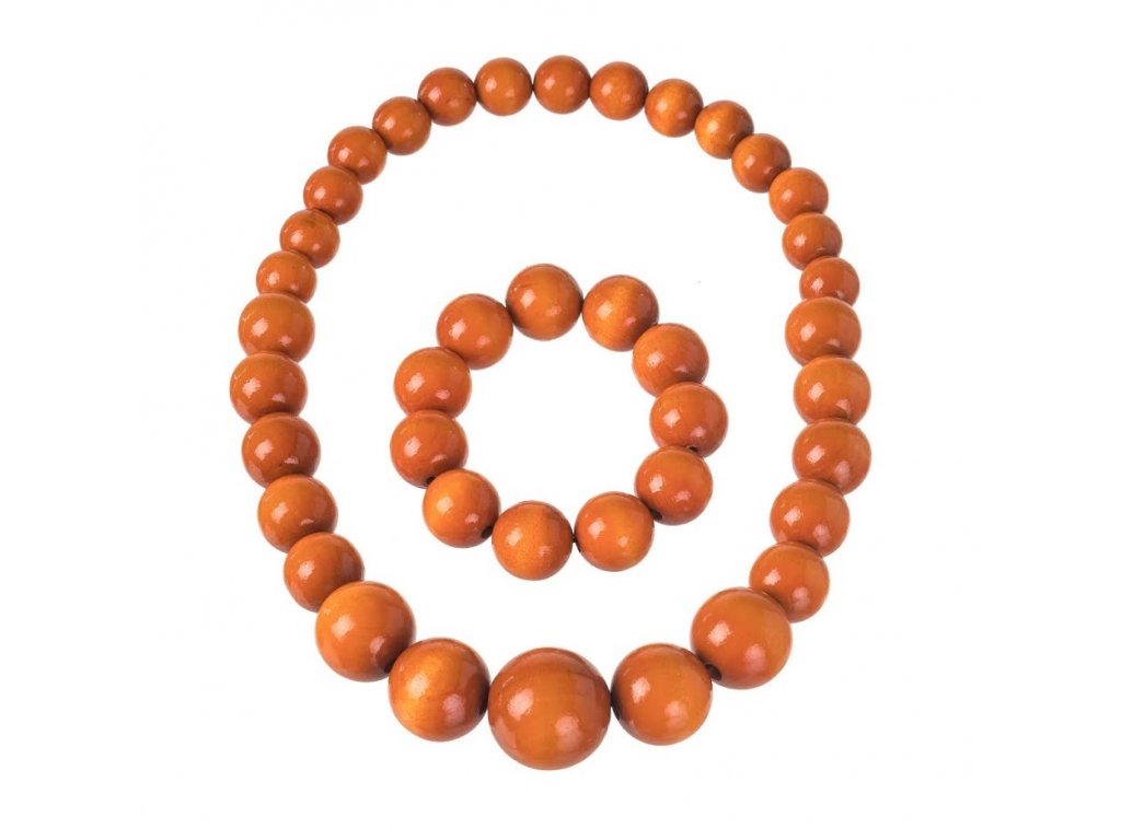 Oranžový náhrdelník s náramkom
