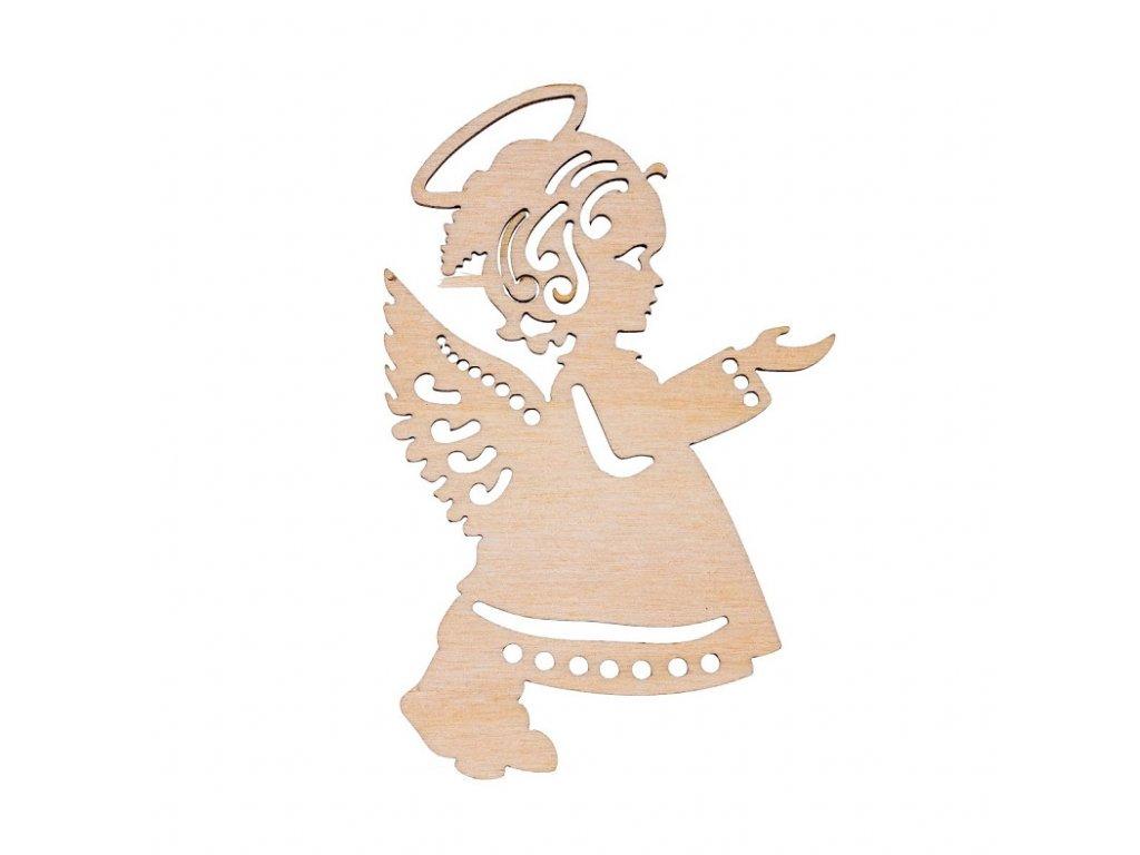 Drevená vianočná výzdoba - anjelik II