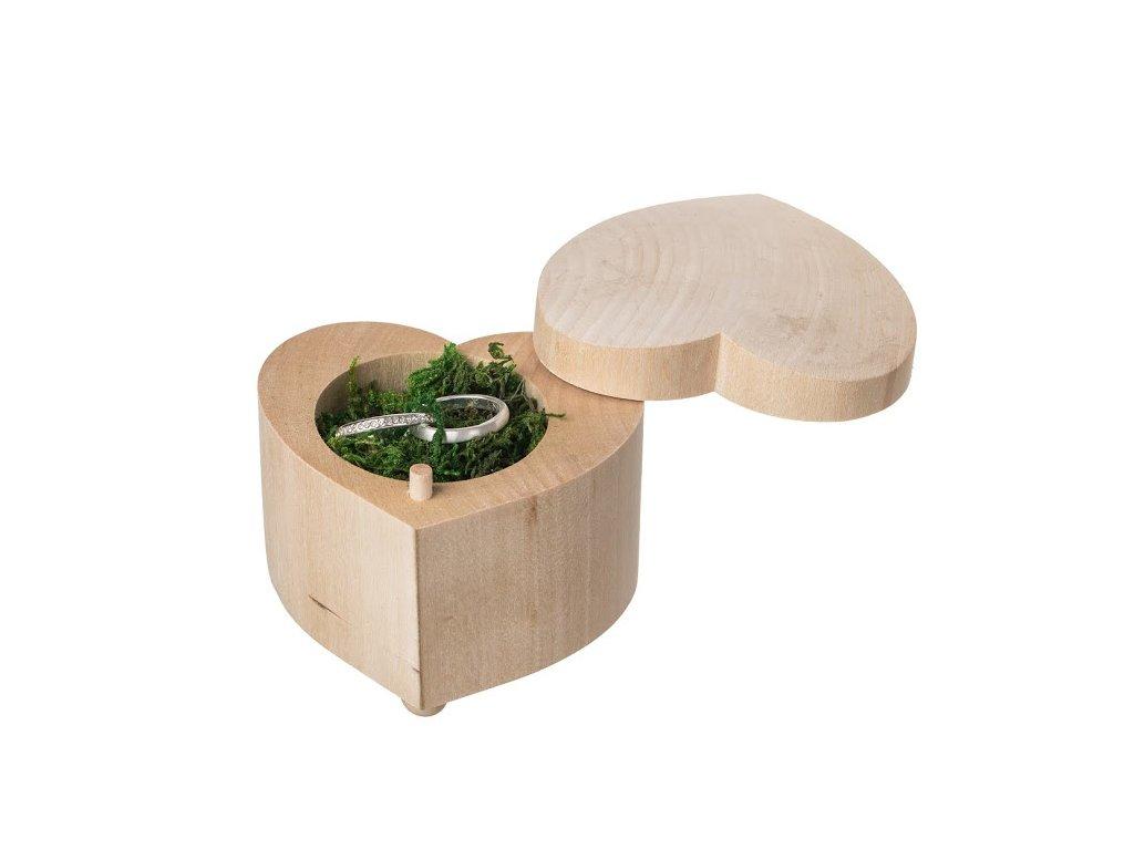 Krabička na snubné prstene - srdce